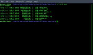 Find large files on Linux - step 02