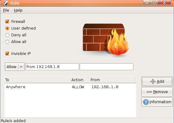 Install and configure a firewall on Ubuntu