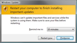 Microsoft Windows - delay update